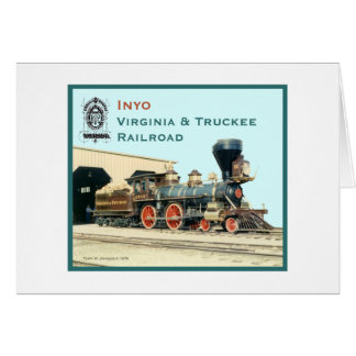 V&T Railroad Inyo engine Card