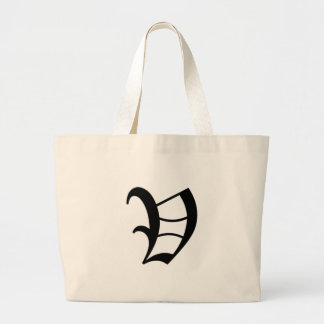 V-text Old English Large Tote Bag