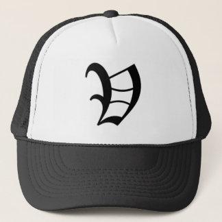 V-text Old English Trucker Hat