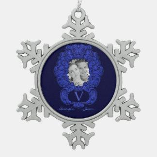 V - The Falck Alphabet Blue Ornament
