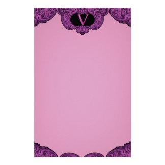 V - The Falck Alphabet (Pink) Stationery Design