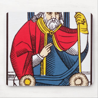 V The Pope, Tarot card Mouse Mat