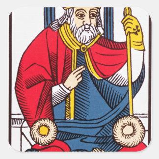 V The Pope, Tarot card Square Sticker