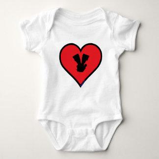 V twin baby bodysuit