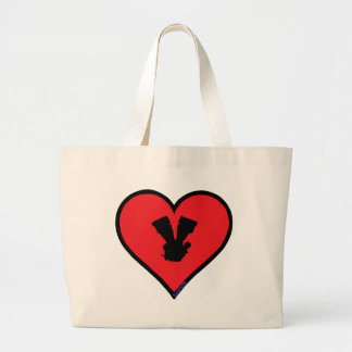 V twin tote bags