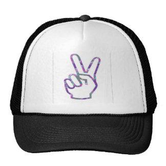 V VICTORY Hand Fingers Symbol Trucker Hats