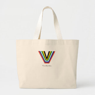 V, victory south africa. tote bags