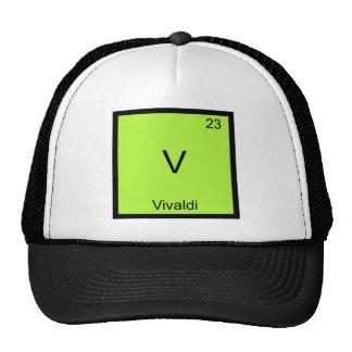 V - Vivaldi Funny Chemistry Element Symbol T-Shirt Cap