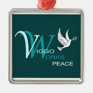 V-W Peace Christmas Ornament