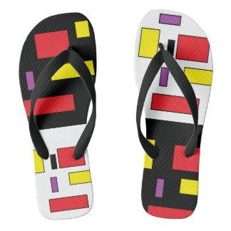 Va-cA b colourful square flip flops by DAL