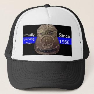 VA State Trooper Thin Blue Line Trucker Hat