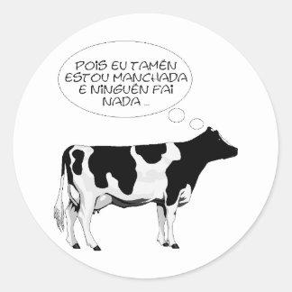 VACA%20bn%20grande intelligent cow Round Sticker