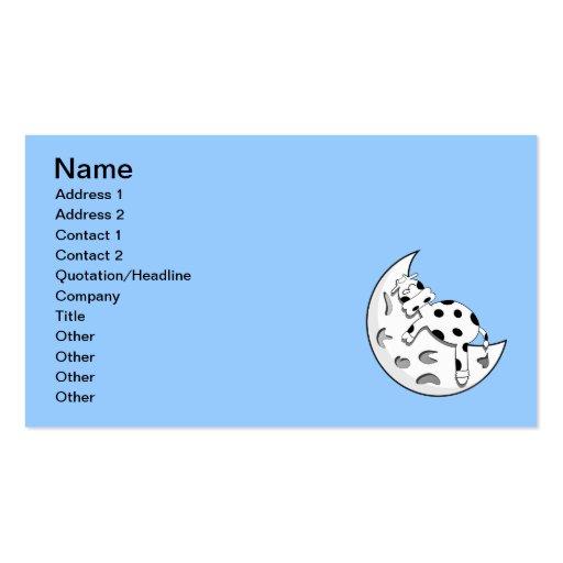 vaca_en_la_luna_Vector_Clipart Business Card Template