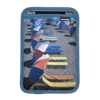 Vacant Chairs On Beach iPad Mini Sleeve