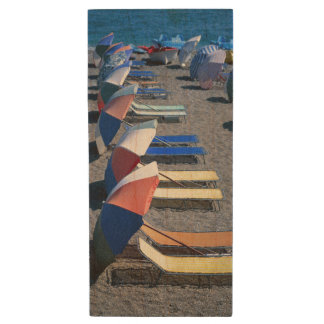Vacant Chairs On Beach Wood USB Flash Drive