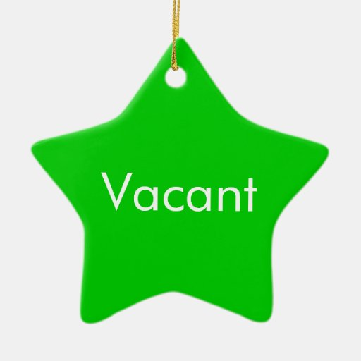 Vacant Occupied two sided Door Hang Christmas Tree Ornaments