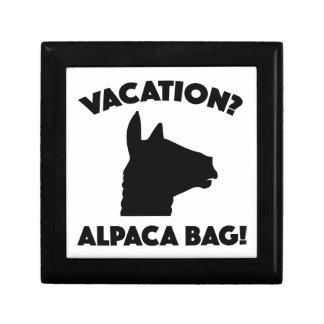 Vacation? Alpaca Bag! Small Square Gift Box
