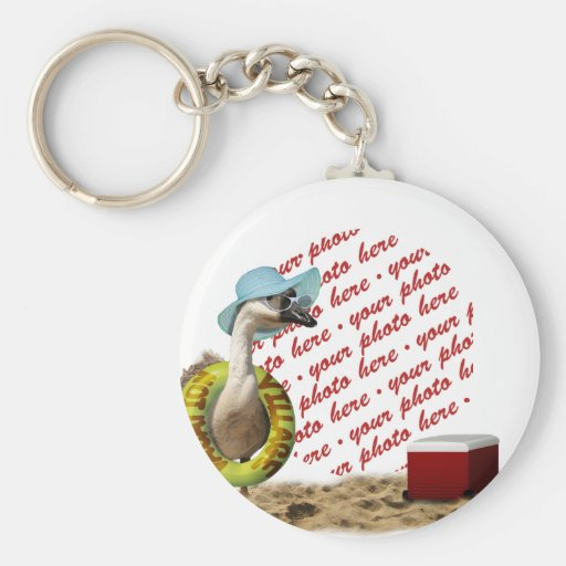 Vacation at the Beach Goose Photo Frame Keychains