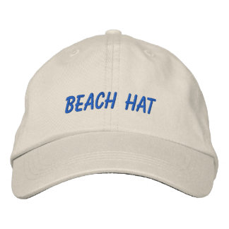 Vacation Beach Hat Words Custom Wording and Color Embroidered Hat