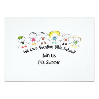 Vacation Bible School 13 Cm X 18 Cm Invitation Card