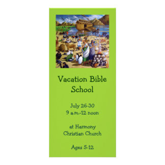 Vacation Bible School Invitation: Painting of Noah Full Color Rack Card