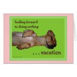 Vacation Customisable Haiku Greeting Card