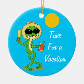 Vacation Frog Christmas Ornament