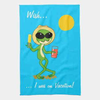 Vacation Frog Tea Towel