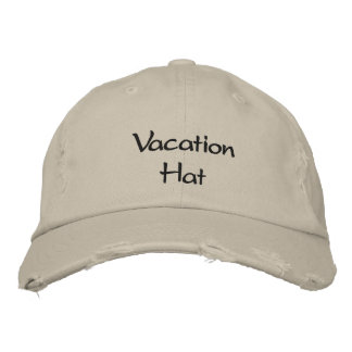 Vacation Hat Embroidered Baseball Cap