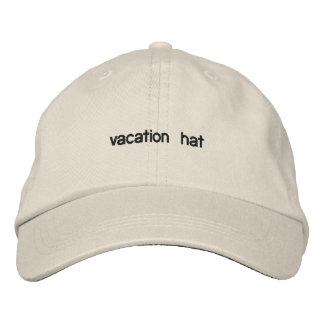 vacation hat embroidered hats