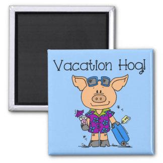 Vacation Hog Fridge Magnet