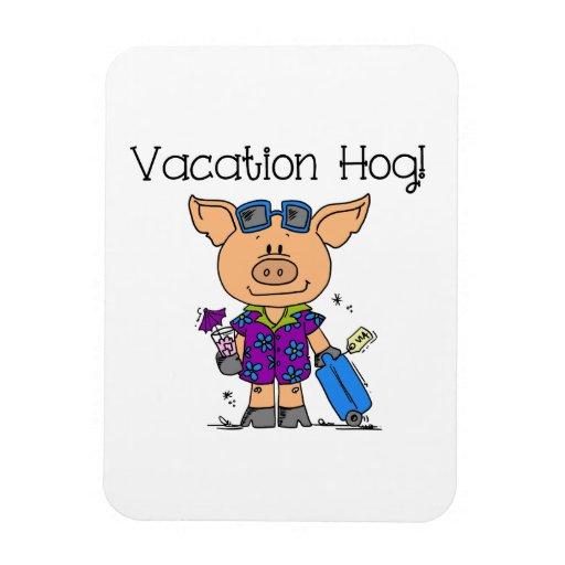 Vacation Hog Rectangular Magnets