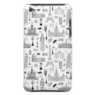 Vacation In Europe Pattern Barely There iPod Cover