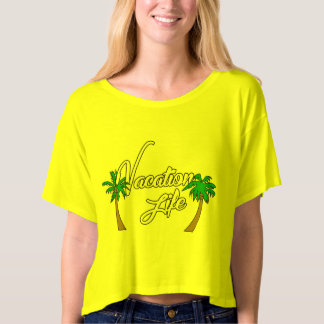 Vacation Life Crop Top Logo 2