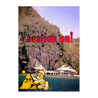 Vacation on natural beach beauty Wall art