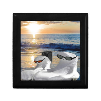 Vacation Retirees Small Square Gift Box