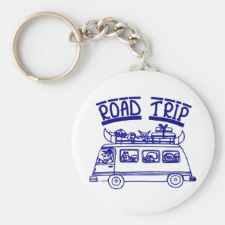 Vacation Road Trip Basic Round Button Key Ring