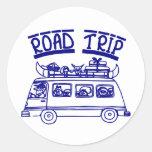 Vacation Road Trip Classic Round Sticker