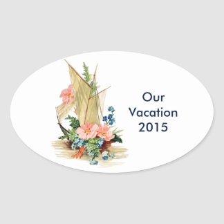 Vacation Scrapbook Oval Sticker