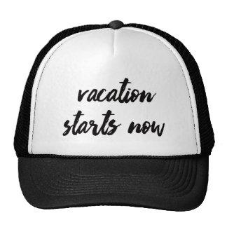 Vacation Starts Now | Trendy Typography Cap