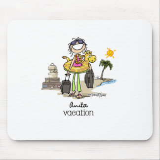 Vacation Time - Girls Mouse Mat