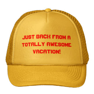 vacation time mesh hat