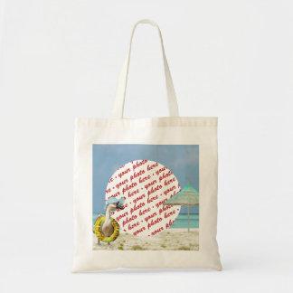 Vacation Time ! Photo Frame Beach Bag