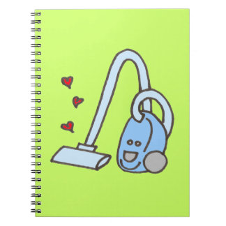 Vacuum Cleaner with Hearts Notebook