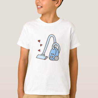Vacuum Cleaner with Hearts T-Shirt