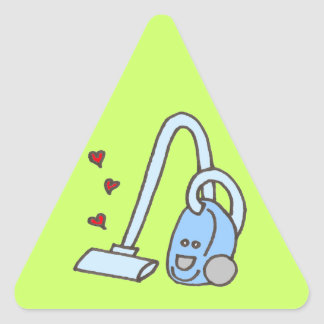Vacuum Cleaner with Hearts Triangle Sticker