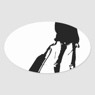 vacuum oval sticker