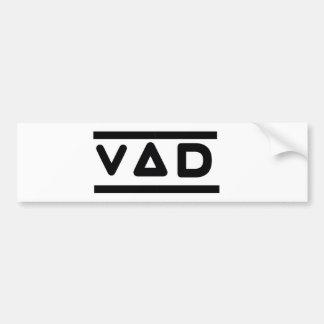 VAD Car Bumper Logo Bumper Sticker
