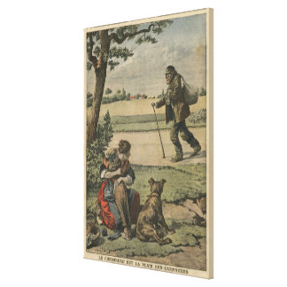 Vagabond is a nuisance for countryside canvas print