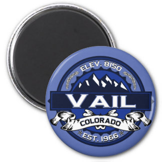 Vail City Logo Blue Magnet